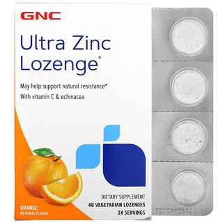 GNC, Ultra Zinc Lozenge, Orange, 48 Vegetarian Lozenges