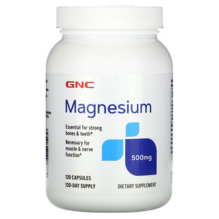 GNC, Magnesium, 500 mg, 120 Capsules