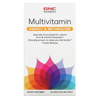GNC, Women's Multivitamin, Energy & Metabolism, 90 Caplets
