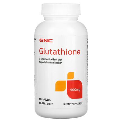 Купить GNC Glutathione, 500 mg, 60 Capsules