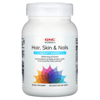 GNC, Women's Hair, Skin & Nails, Beauty Basics, 120 Caplets