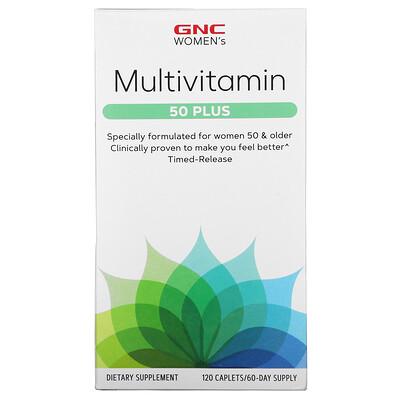 Купить GNC Multivitamin, 50 Plus, 120 Caplets
