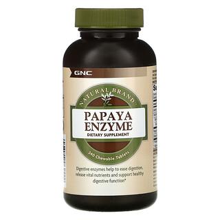 GNC, Natural Brand, Papaya Enzyme,  240 Chewable Tablets