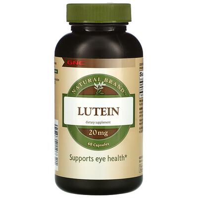 Купить GNC Natural Brand Lutein, 20 mg, 60 Capsules