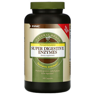 GNC, Natural Brand, Super Digestive Enzymes, 240 Capsules