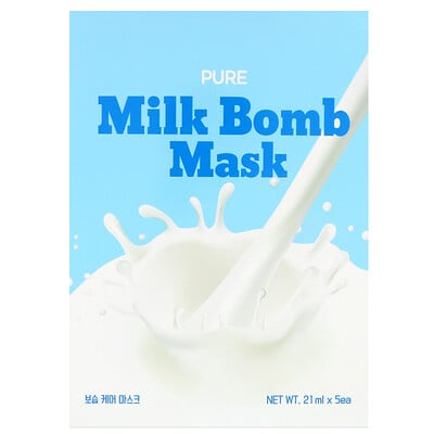 Купить G9skin Pure Milk Bomb, маска, 5шт. по 21мл