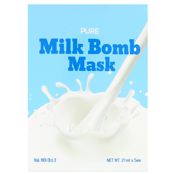 Pure Milk Bomb Mask, 5 Masks, 21 ml Each