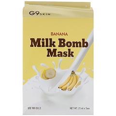 G9skin, バナナ・ミルクボムマスク、5枚、各21 ml