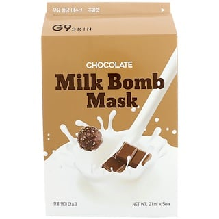 G9skin, Chocolate Milk Bomb Mask, 5 Masks, 21 ml Each