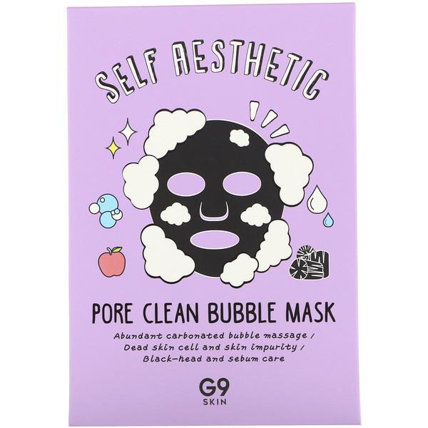 G9skin, Self Aesthetic, Pore Clean Bubble Mask, 5 Masks, 0.78 fl oz (23 ml) Each