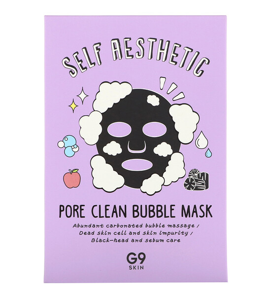 Self Aesthetic, Pore Clean Bubble Mask, 5 Sheets, 0.78 fl oz (23 ml) Each