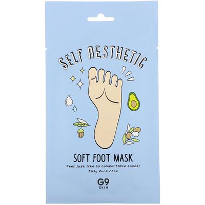 Купить G9skin Self Aesthetic, смягчающая маска для стоп, 5шт., 12мл (0, 40жидк.унции)