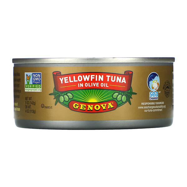 Genova, Yellowfin Tuna In Olive Oil, 5 oz (142 g)