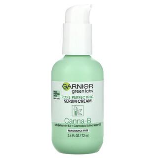 Garnier, Green Labs, Pore Perfecting Serum Cream, Canna-B, with Vitamin-B3 + Cannabis Sativa Seed Oil,  2.4 fl oz (72 ml)