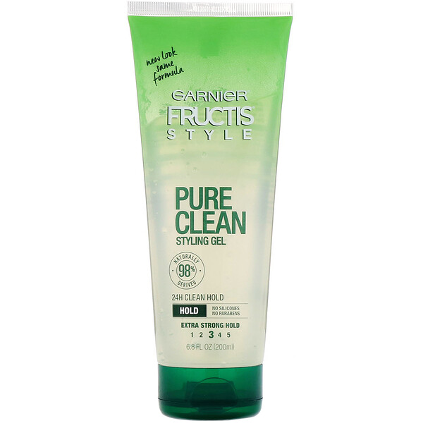 Garnier, Fructis, Pure Clean, Gel coiffant, 200 ml