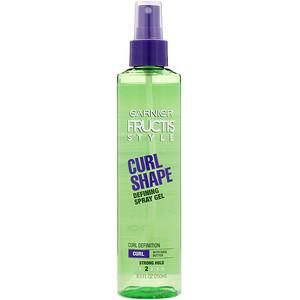 Garnier, Fructis, Curl Shape, Defining Spray Gel, 8.5 fl oz (250 ml) отзывы покупателей