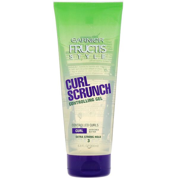 Garnier, Fructis, Curl Scrunch, Controlling Gel, 6.8 fl oz (200 ml) (Discontinued Item)