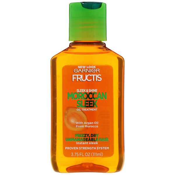 Garnier, Fructis, Elegancia y brillo, Tratamiento con reluciente aceite marroquí, 111ml (3,75oz.líq.)