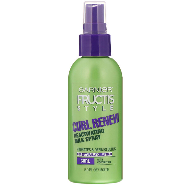 Garnier, Fructis Style, Curl Renew, Reactivating Milk Spray, 5 fl oz (150 ml)