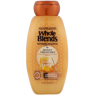 Garnier, Whole Blends, Honey Treasures Repairing Shampoo, 12.5 fl oz (370 ml)