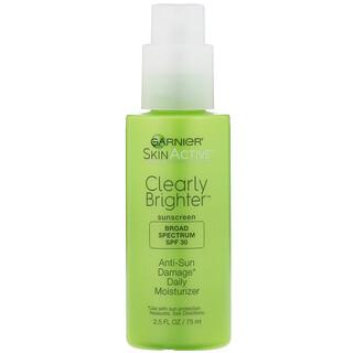 Garnier, SkinActive, Clearly Brighter, Anti-Sun Damage Daily Moisturizer, SPF 30, 2.5 fl oz (75 ml)