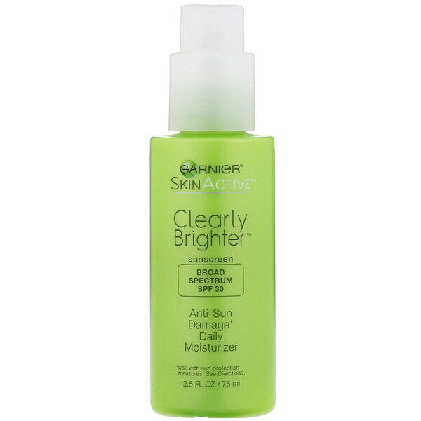 SkinActive, Clearly Brighter, Anti-Sun Damage Daily Moisturizer, SPF 30, 2.5 fl oz (75 ml)