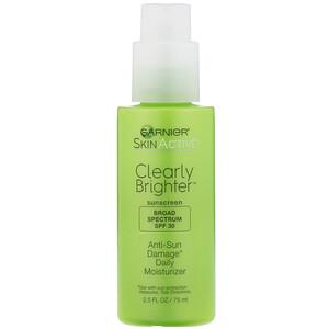 Garnier, SkinActive, Clearly Brighter, Anti-Sun Damage Daily Moisturizer, SPF 30, 2.5 fl oz (75 ml) отзывы