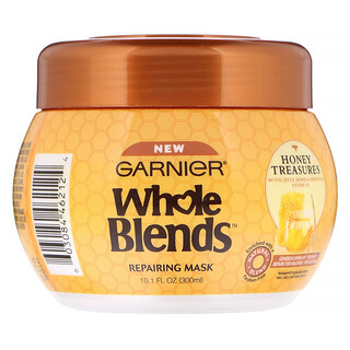 Garnier, Whole Blends, HoneyTreasures, Mascarilla reparadora, 300ml (10,1oz.líq.)