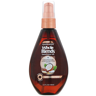 Garnier, Whole Blends, Coconut Oil & Cocoa Butter Smoothing Oil, 3.4 fl oz (100 ml)
