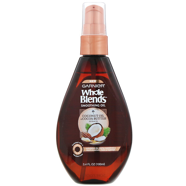 Whole Blends, Coconut Oil & Cocoa Butter Smoothing Oil, 3.4 fl oz (100 ml)