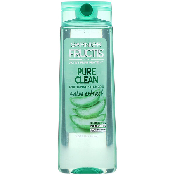 Fructis, Pure Clean, shampoo fortificante com Aloe, 370 ml