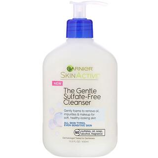 Garnier, SkinActive, El agente de limpieza suave sin sulfatos, 400ml (13,5oz)