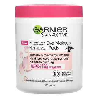 Garnier, SkinActive, Micellar Eye Makeup Remover Pads, 100 Pads