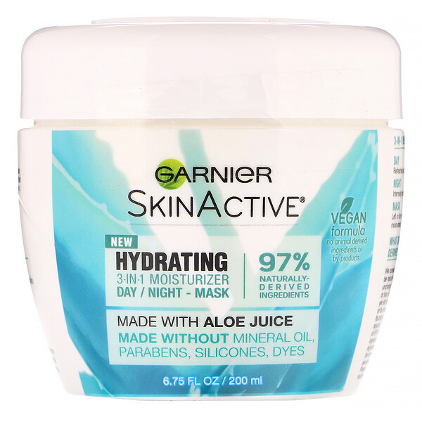 Garnier, SkinActive, Hydrating 3-in-1 Moisturizer with Aloe Juice, 6.75 fl oz (200 ml)