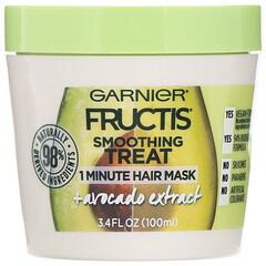 Garnier, 果實系列,舒緩平靜配方,1 分鐘髮膜,含牛油果提取物,3.4 液量盎司(100 毫升)