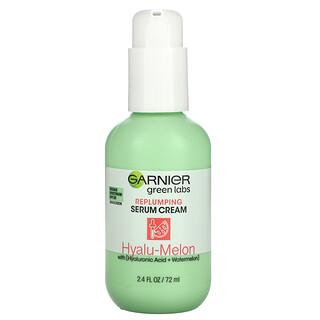 Garnier, Green Labs, Replumping Serum Cream, Hyalu-Melon with Hyaluronic Acid + Watermelon, SPF 30, 2.4 fl oz (72 ml)
