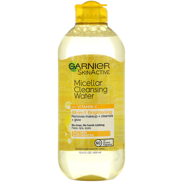 SkinActive, Micellar Cleansing Water with Vitamin C, 13.5 fl oz (400 ml)