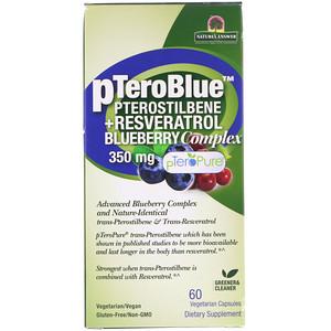 Генсьютик Нэчуралс, pTeroBlue, Pterostilbene + Resveratrol, 350 mg, 60 Vegetarian Capsules отзывы