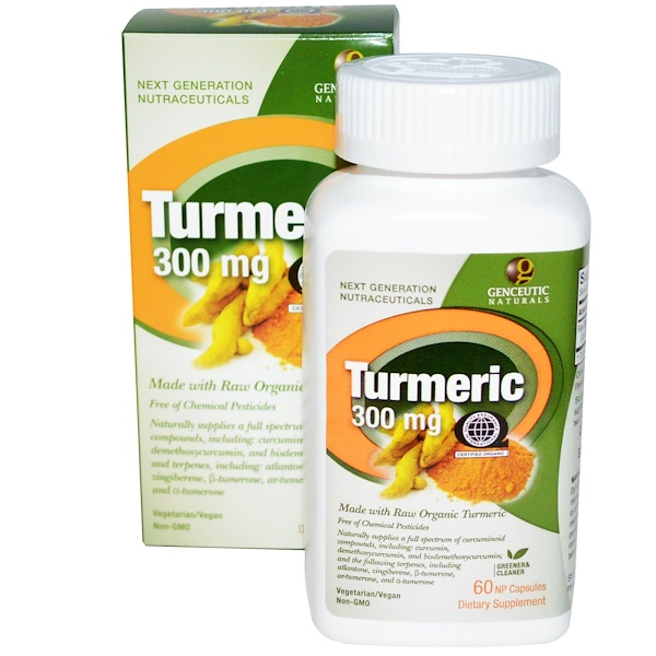 Genceutic Naturals, Turmeric, 300 mg, 60 NP Natural Capsules