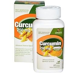 Genceutic Naturals, 薑黃素, 250 毫克, 60 粒軟膠囊