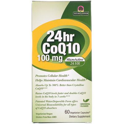 Genceutic Naturals Коэнзим Q10 24Часа, 100мг, 60вегетарианских капсул