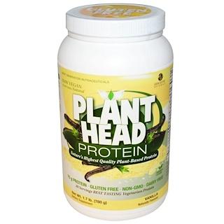 Genceutic Naturals, Plant Head Protein, Vanilla, 1.7 lb (780 g)