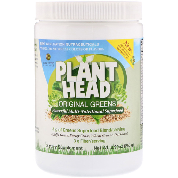 :Genceutic Naturals, Plant Head, Original Green, 8、99 oz (255 g)