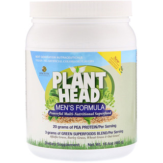 Genceutic Naturals, Plant Head, Men's Formula, 16.4 oz (465 g)