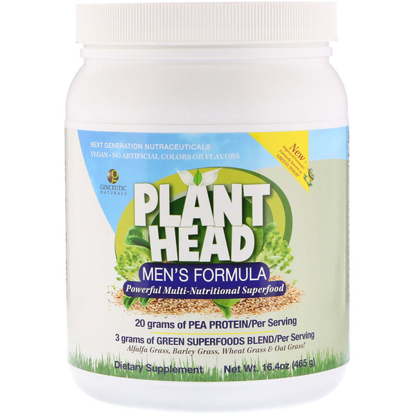 Genceutic Naturals, Plant Head, Men's Formula, 16、4 oz (465 g)