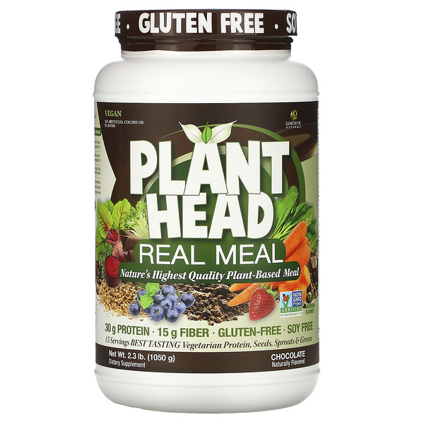 Plant Head, Real Meal, Chocolate, 2.3 lb (1,050 g)