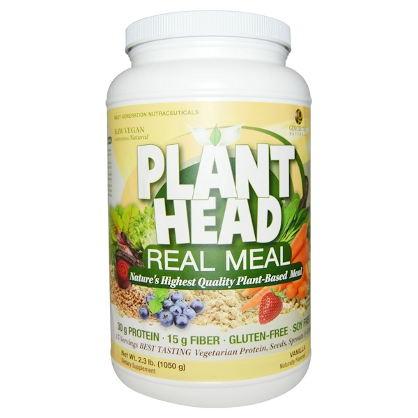 Plant Head, Real Meal, Vanilla, 2.3 lb (1050 g)
