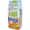 GNU Foods, Flavor & Fiber, Together At Last, Peanut Butter Bars, 5 Bars, 1.6 oz (45 g) Each (Discontinued Item)