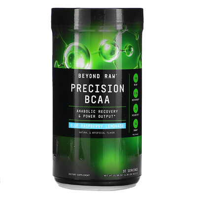 GNC Beyond Raw Precision BCAA, Blue Raspberry Lemonade, 1.36 lb (615.0 g)