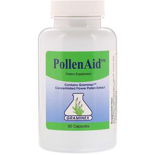 Graminex, PollenAid, 90 Capsules